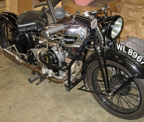 Vintage Douglas motorcycle to the USA Image Express Exports