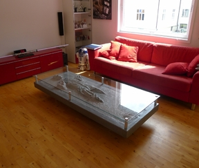 Glass topped table to Norway Image Express Exports